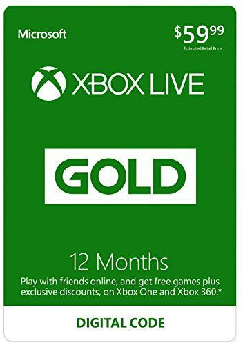 Xbox Live 12 Month Gold Membership - Digital Code