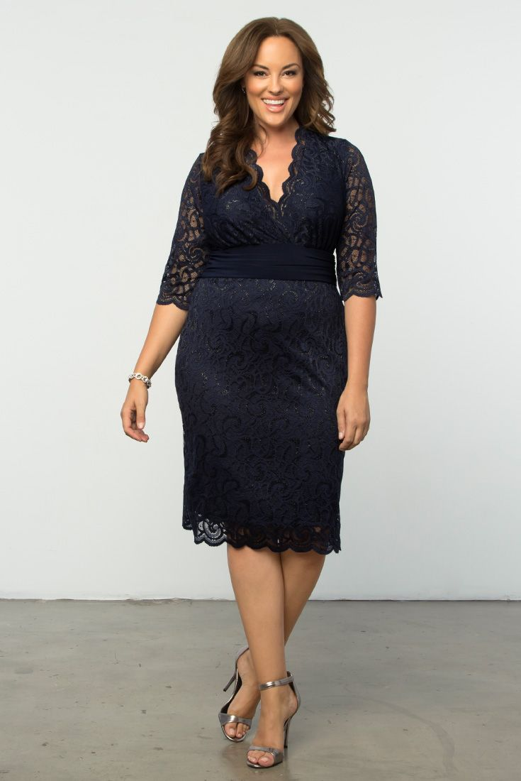 91805eff06e Our plus size Lumiere Lace Dress is perfect dress for mother of the brides!  This flattering style is an instant wedding classic. Available in other  colors.