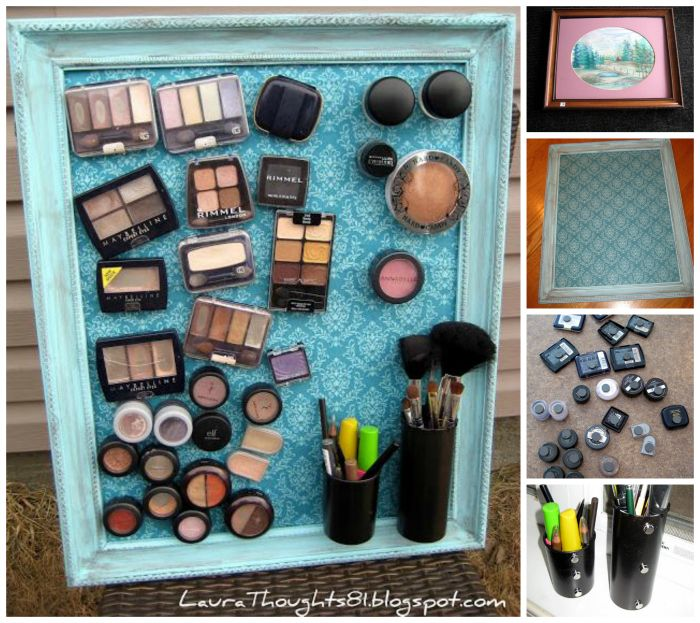 DIY Magnetic Makeup Board | DIY Cozy Home made this fir my daughter thus years for Christmas she loved it