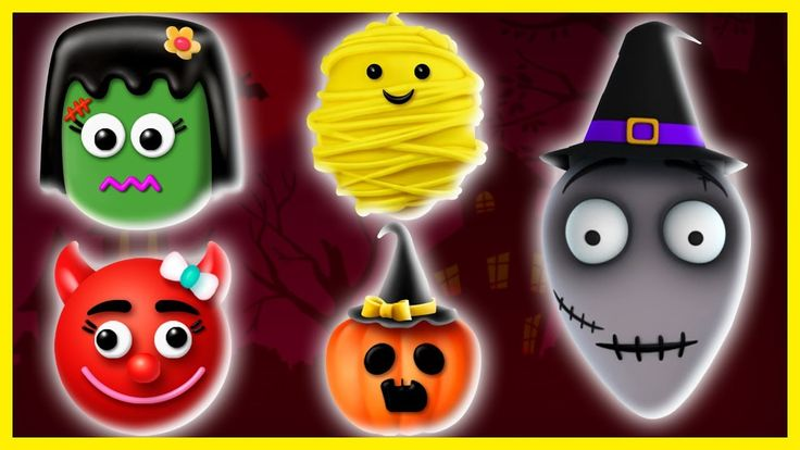 Cake Pop Finger Family - Finger Family Halloween | 3D Halloween Video Series | Cake Pop Finger Family Songs for kids