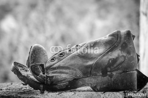 Old ripped boot