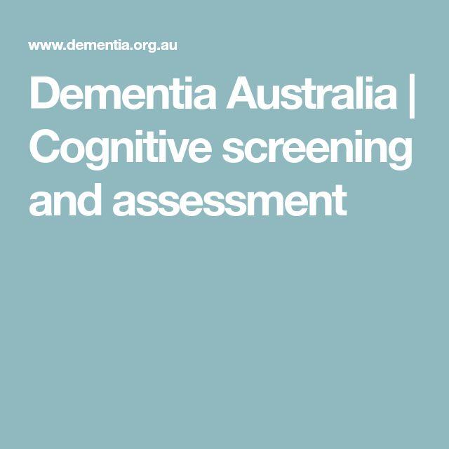 Dementia Australia | Cognitive screening and assessment