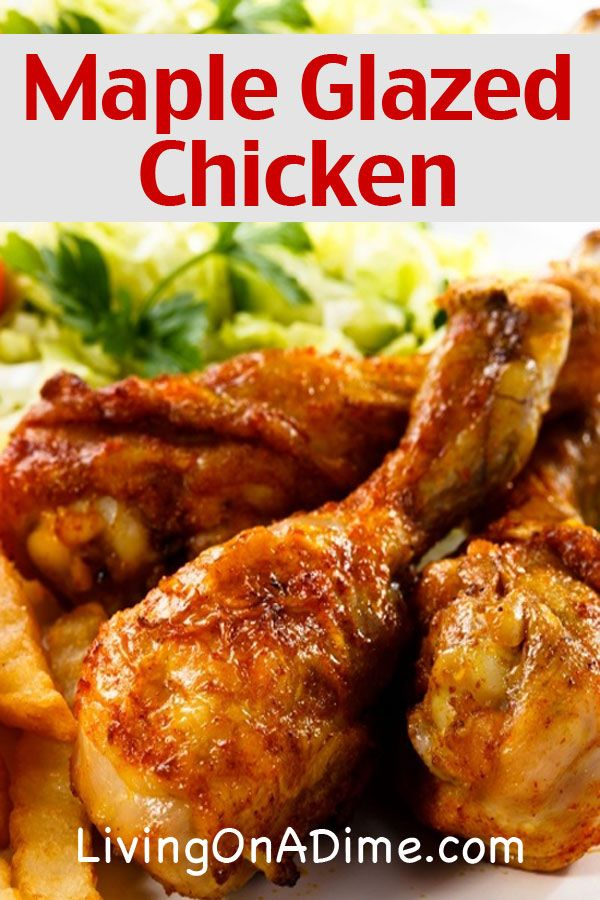 Maple Glazed Chicken Recipe - 10 Dinners For $5 - Cheap Dinner Recipes And Ideas