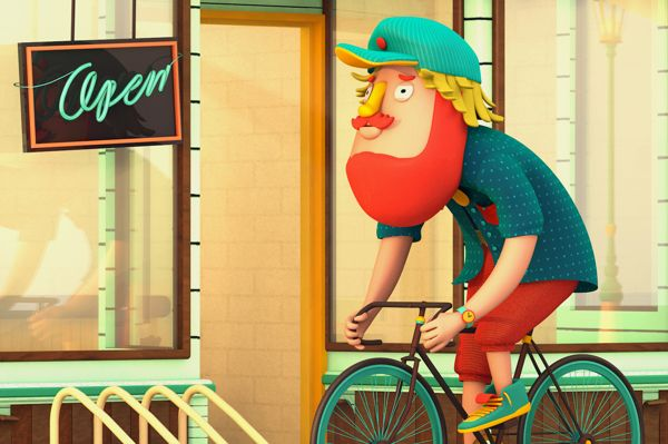 Take Your Bike and Go by Roberto Juárez, via Behance