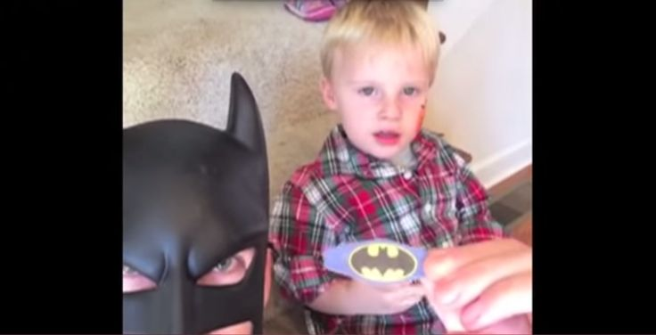 Holy Smokes, Batman! Dad Channels His Inner 'Dark Knight' In Legendary Video