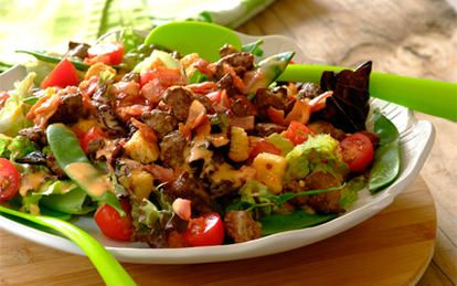 Crunchy Chicken Liver Salad