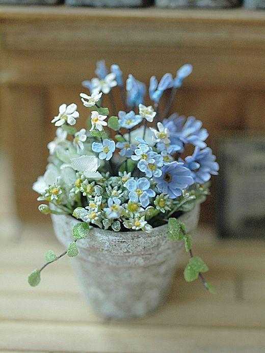 miniature* Flower ちいさな寄せ植え : natural色の生活~handmade家具