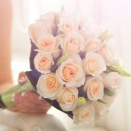 Pretty in Peach Bridal Bouquet - Pretty in Peach Bridal Bouquet > View Full-Size... | Peach, Pretty, Purchased, Bouquet, Aud | $98