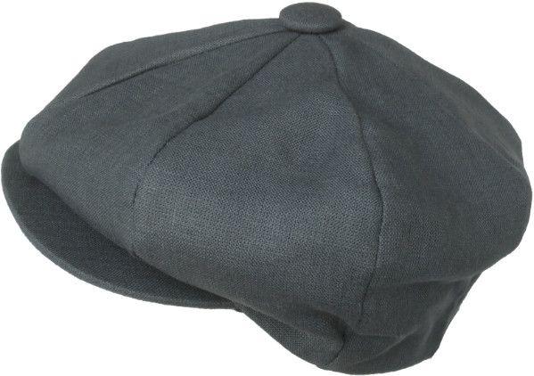 Broner Linen 8 Panel Apple Jack Newsboy Cap Made In USA Gatsby Hat