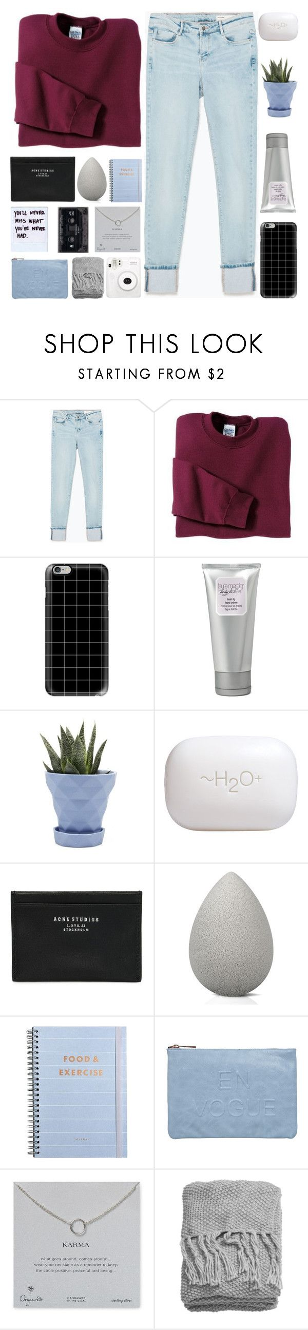 """AUTUMN LEAVES FALLING DOWN"" by s-erene ❤ liked on Polyvore featuring Zara, Gildan, Casetify, Laura Mercier, Chive, H2O+, Acne Studios, beautyblender, Miss Selfridge and Dogeared"