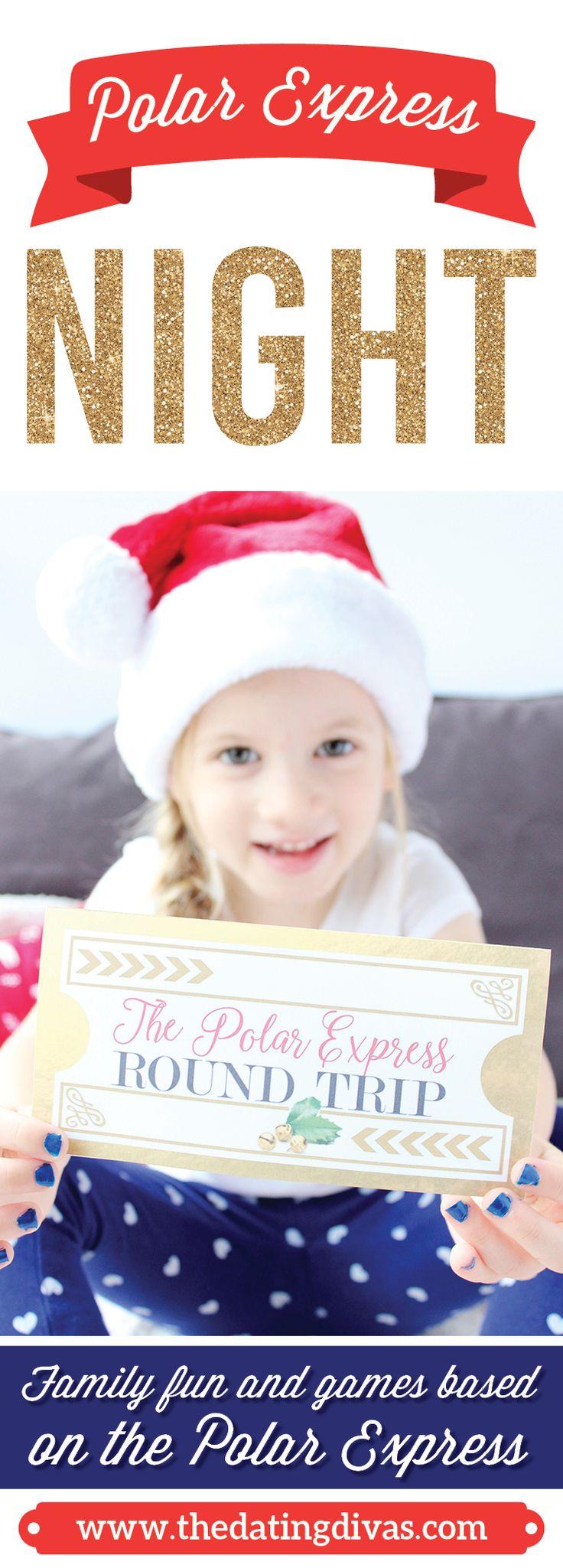 Free Printables for a fun Polar Express Family Night!  Such a fun way to make magical Christmas memories.