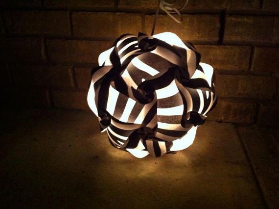 Zebra Puzzle Lamp by GetLightMe on Etsy