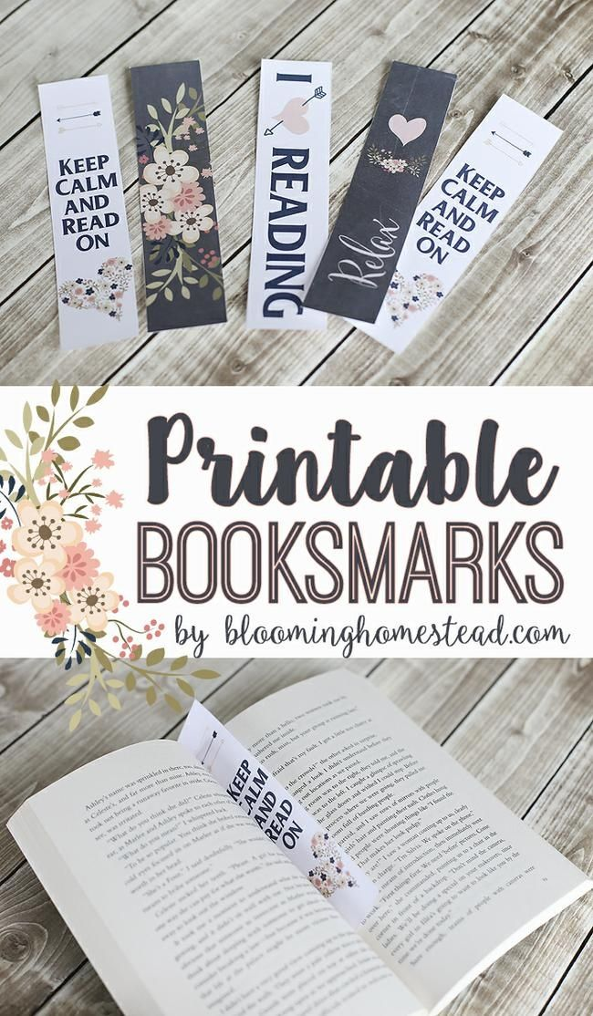 Lots of fun printable bookmarks... kids to adults!