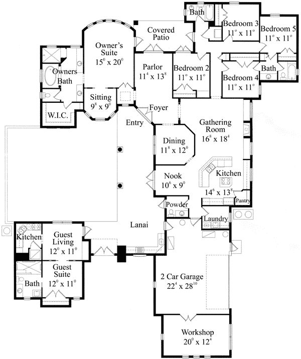3500 square foot rambler house plans for 3500 sq ft house floor plans
