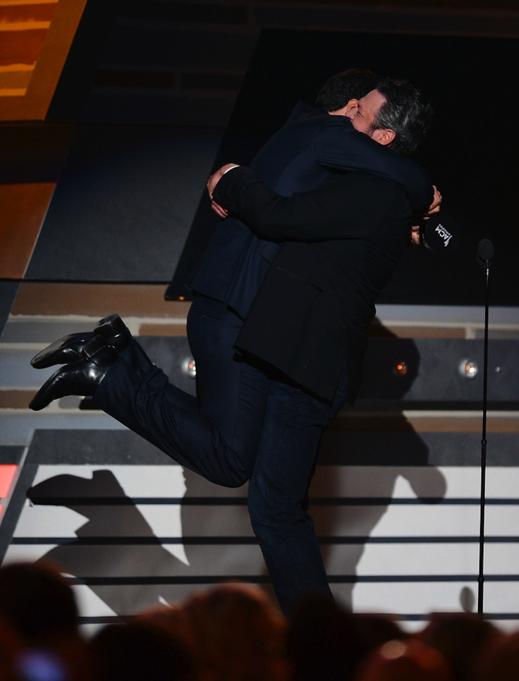 Luke Bryan & Blake Shelton upon luke hearing he won Entertainer of the Year!!!