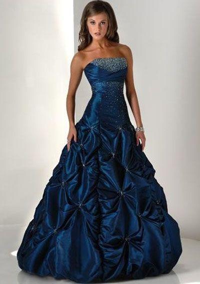 Dark Blue Prom Dresses 2013