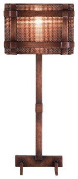 Fine Art Lamps 741615 Veil Antiqued Copper Table Lamp - transitional - Table Lamps - Littman Bros Lighting