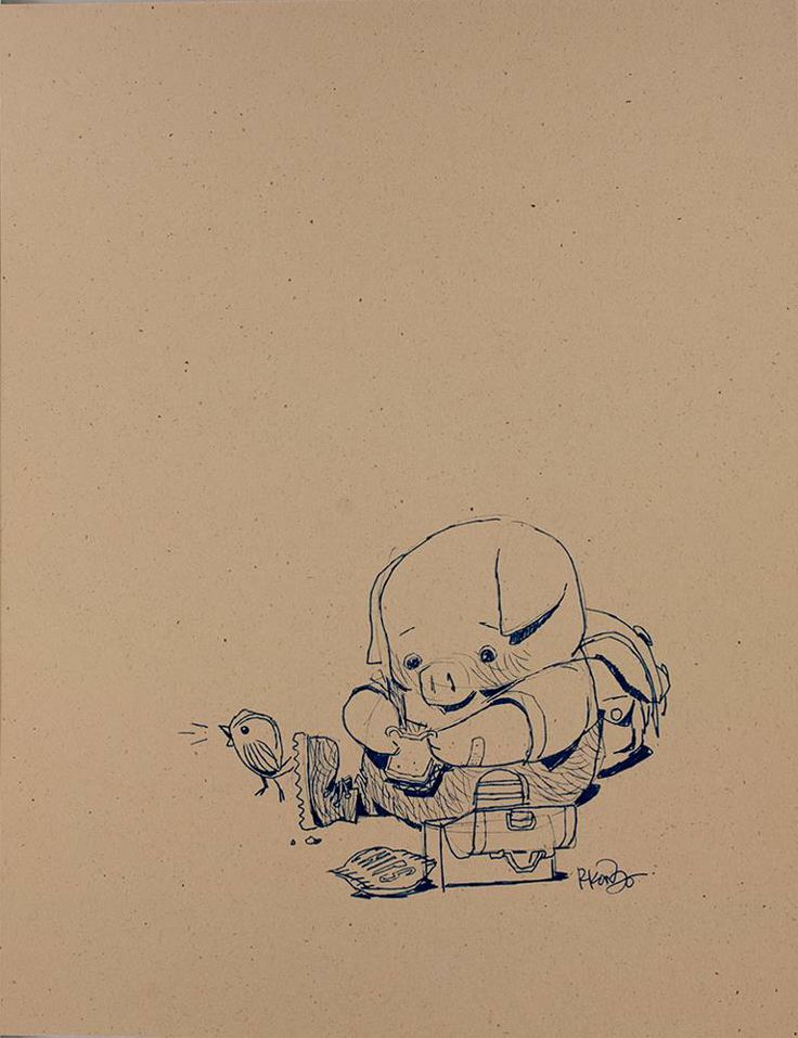 Concept artwork by Robert Kondo for the animated short film 'The Dam Keeper' directed by Robert Kondo and Dice Tsutsumi, 2014.  www.TheDamKeeper.com www.Facebook.com/TheDamKeeper
