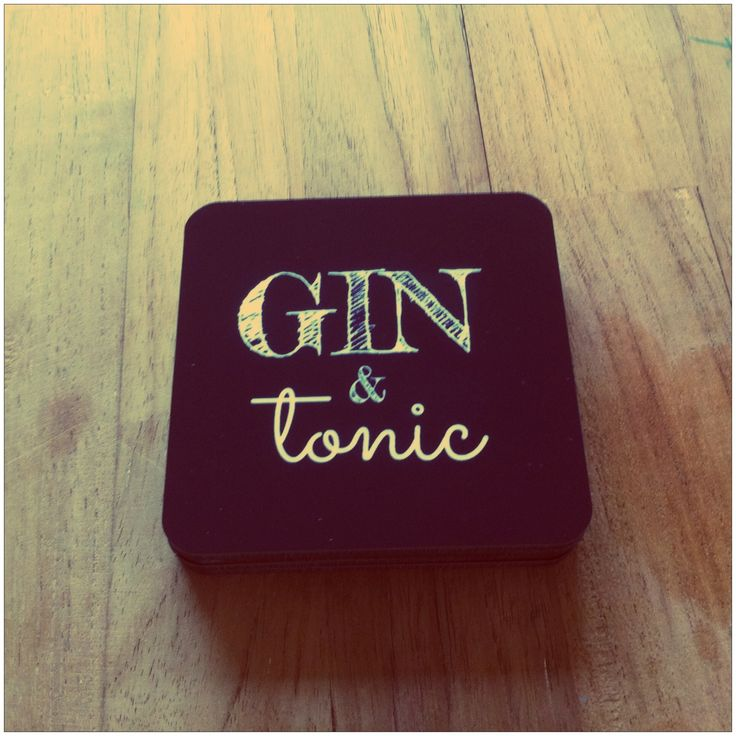 A valentine's gift for my husband. Gin and Tonic coasters in black and white.  http://mashaweenink.wix.com/ginandtonic