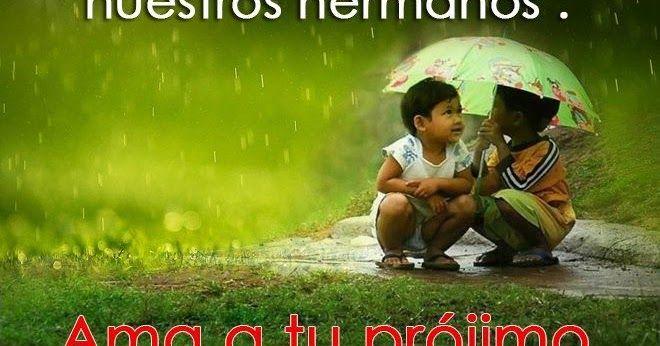 La imagen de hoy dice: No podemos decir que amamos a Dios   si faltamos en amar a nuestros hermanos   Ama a tu prójimo como a ti mismo  ...