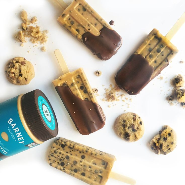 Allergy Friendly Chocolate Chip Cookie Dough Popsicles - Barney Butter