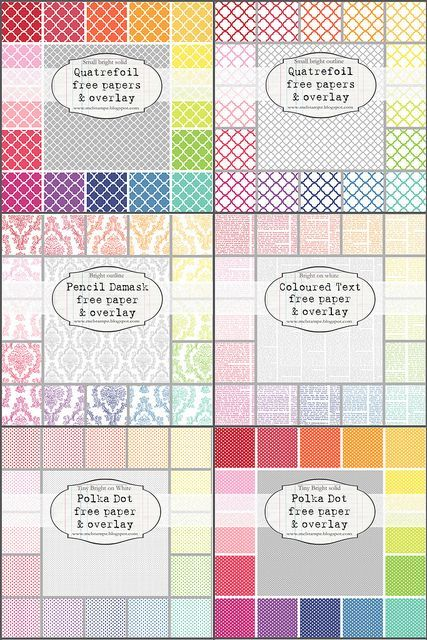 Motherload of free papers/overlays.. use overlays in photoshop to make any paper different!