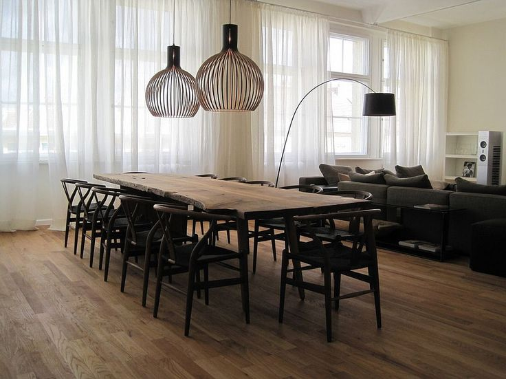 Scandinavian style dining room with a live edge table modern dining room designs for the