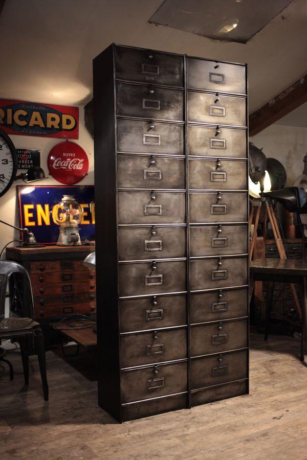 meuble de metier ancien industriel industrial pinterest atelier. Black Bedroom Furniture Sets. Home Design Ideas