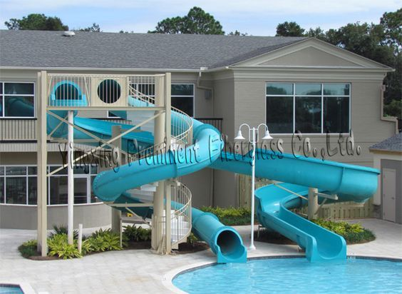 home pool slide | Private Swimming Pool Fiberglass Water Slide For Home - Buy Water ...