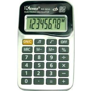 CALCULADORA KENKO KK-323.  Prática e funcional  Fácil manuseio  Operações matemáticas básica  Display de 8 dígitos.