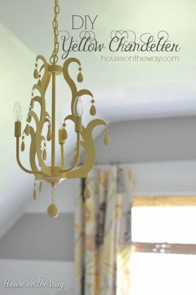 Yellow Chandelier from houseontheway.com