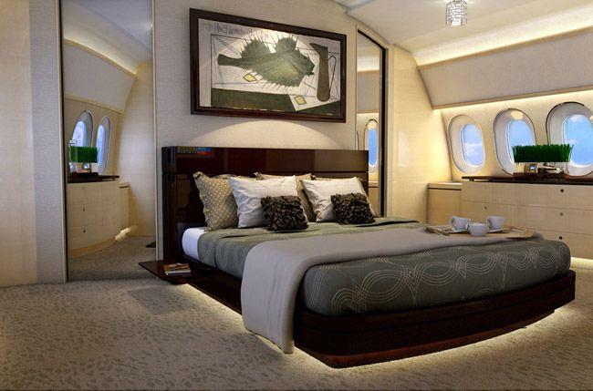 Los aviones privados en China decorados como si fuesen estancias de lujo