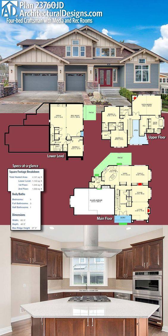 Architectural Design Craftsman House Plan 23760JD shines