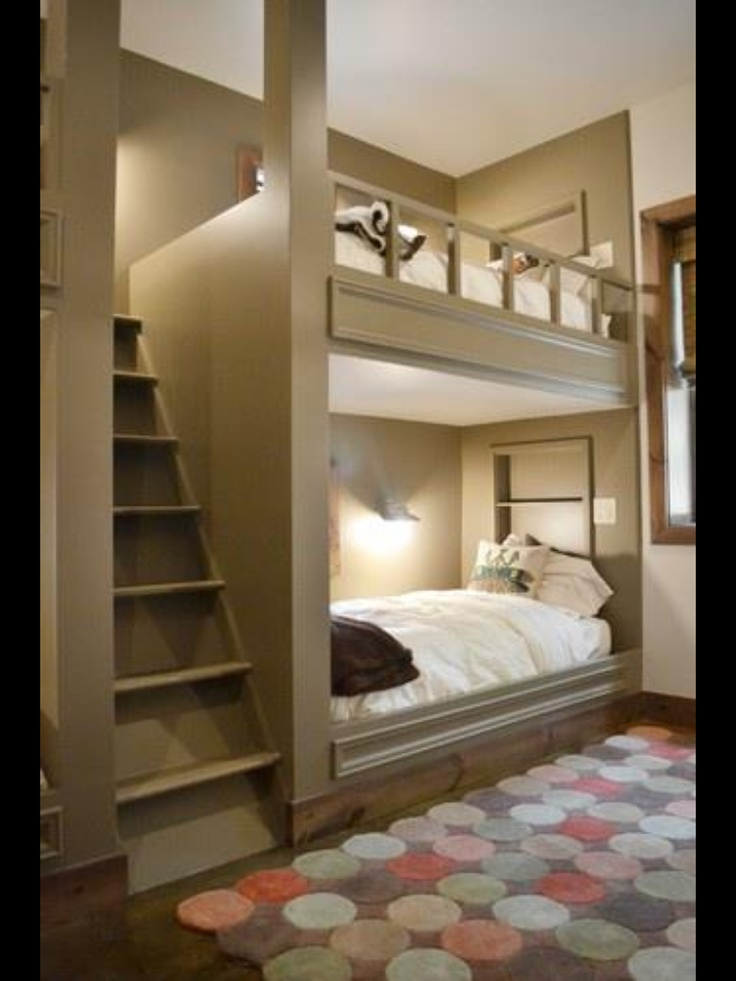 houzz readers loved the custom grown up color of this built in bunk bed several even wanted this space saving solution for their guest rooms