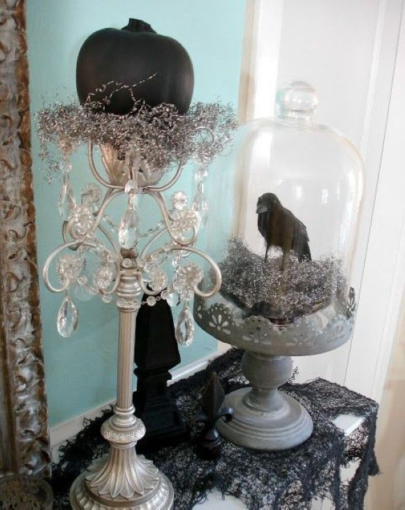 Gothic halloween mantel ideas