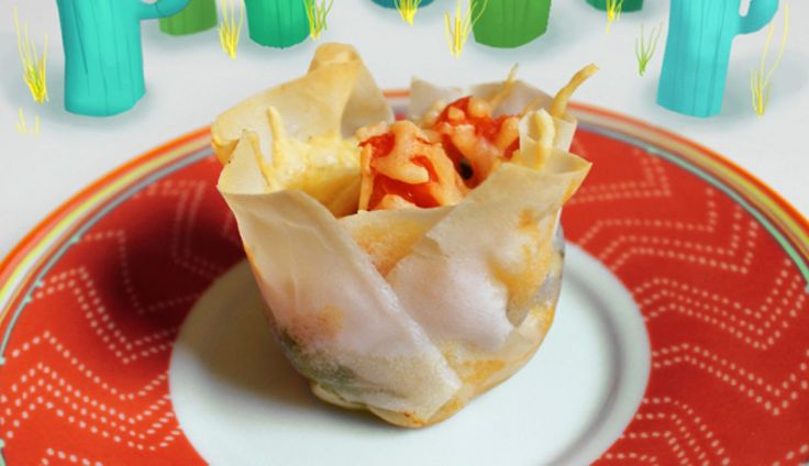 Mexicaanse taco's: heerlijk, maar altijd zo'n flinke hap. Als je ze in een muffinvormpje maakt, worden…