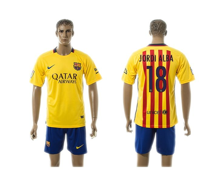 15/16 Barcelona Away Voetbalshirts JORDIALBA 18