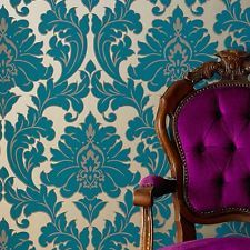 Awesome Vlies Tapete Barock Muster Ornament metallic effekt t rkis petrol gold klassisch