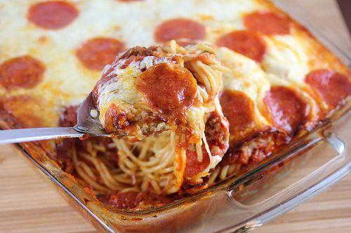 Pizza Spaghetti Casserole Recipe on Yummly. @yummly #recipe