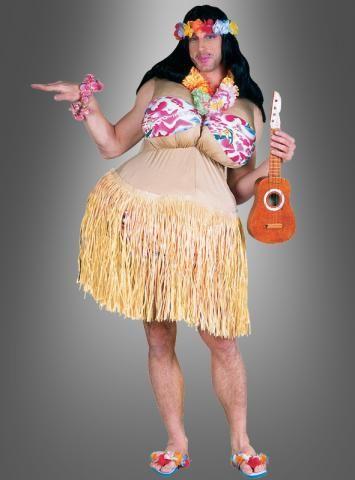 Hulamädchen Hawaii Kostüm für Männer