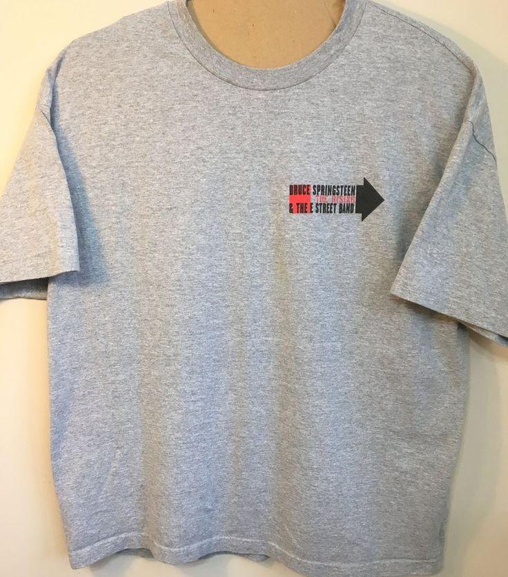 Bruce Springsteen Mens 2XL Concert T-Shirt The Rising 2002 #brucespringsteenandtheestreetband  #brucesprinsteentherising