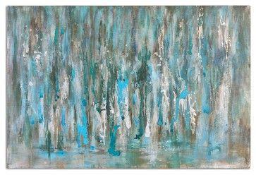 """Uttermost Cascades Modern Art transitional-mixed-media-art $317.80 60"""" x 40"""""""