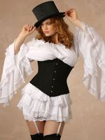 From the Steampunk Fashion Guide's Guide to Corsets - Underbust corsets: Gwendolyn Cotton Steel Boned Plus Size Underbust Corset
