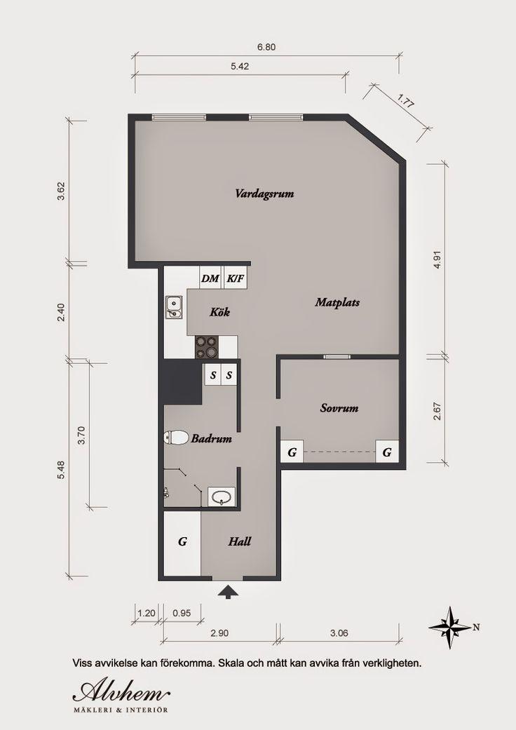 Piso de 60m² en Göteborg | Decorar tu casa es facilisimo.com