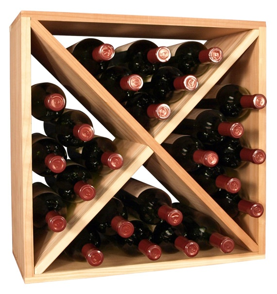 wine racks america 24 bottle wine cube
