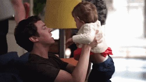 "When he was all too happy to babysit Christine. | Community Post: 23 Times Dr. Lance Sweets Was The Best Character On ""Bones"""