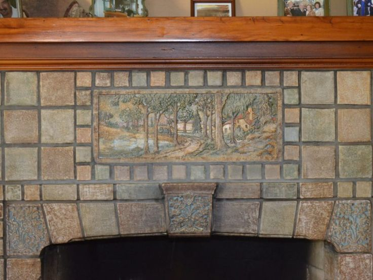 Monrovia, CA - A fireplace of Batchelder tiles is on most vintage home aficionados wish lists.