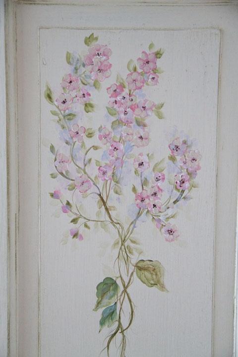 hand painted wood doors, shabby chic
