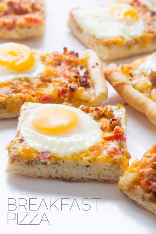 Breakfast Pizza by realfoodbydad: Quick and easy. #Pizza #Breakfast