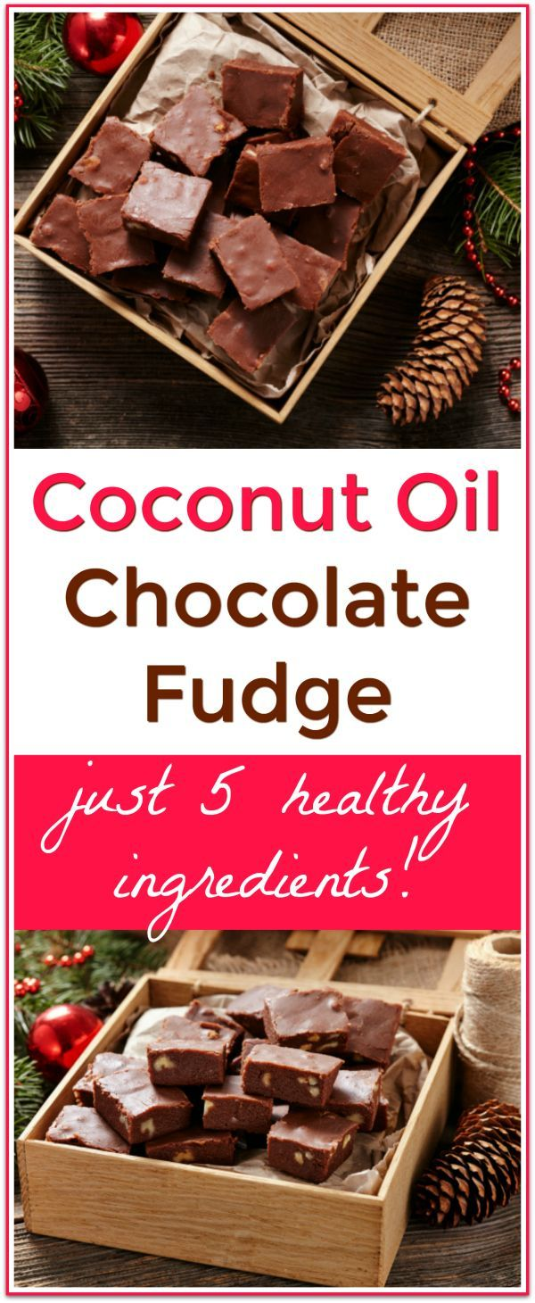 Homemade, healthy fudge made with coconut oil! This Coconut Oil Chocolate Fudge is made with just 5 ingredients including metabolism boosting coconut oil!